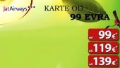JatAirways druga promotivna akcija, cene karata od 99 evra