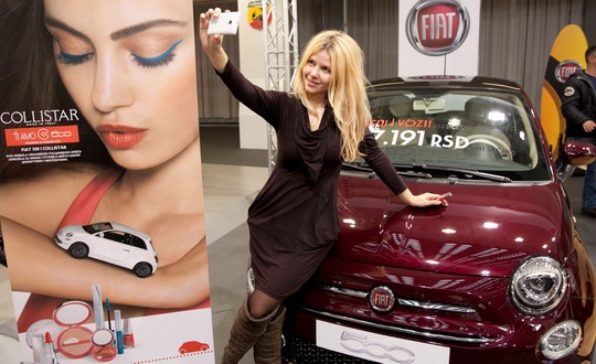 TI AMO ITALIA, FIAT 500 i Collistar na BG CAR SHOW