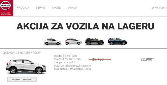 Nissan LF Auto Centar: Akcija za vozila na lageru