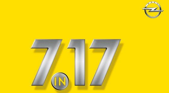 """""""7 u 17"""": Sedam novih modela Opela u 2017."""