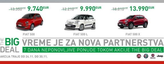 The BIG Deal – 7 dana neponovljive ponude za kupovinu Fiat, Alfa Romeo i Jeep vozila