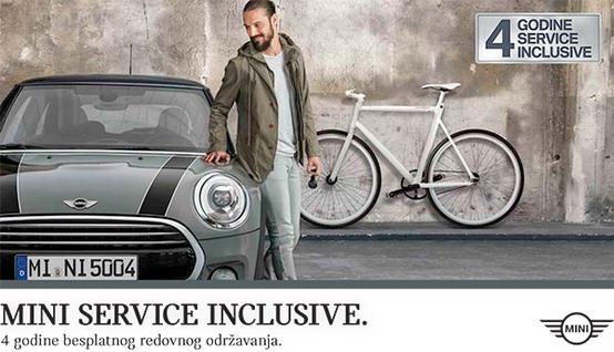 Service Inclusive u trajanju od 4 godine uz kupovinu novog MINI automobila