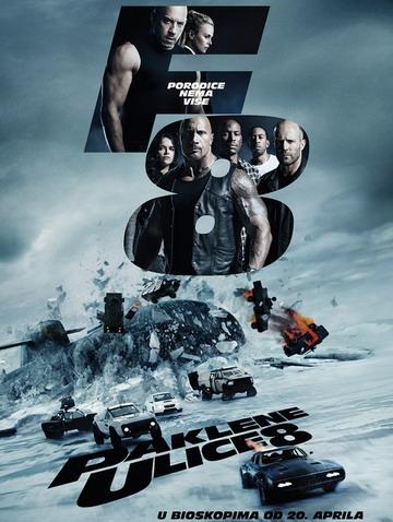 Paklene Ulice 8 (Fast & Furious 8) u bioskopima od 20. aprila