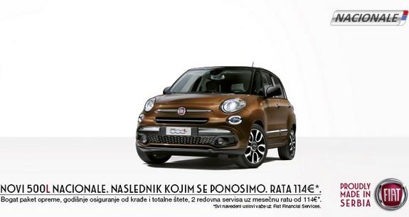 Novi Fiat 500L NACIONALE u ponudi na srpskom tržištu