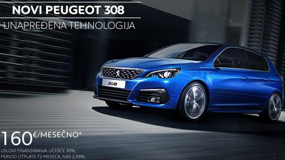 Peugeot 308 od 160 evra mesečno