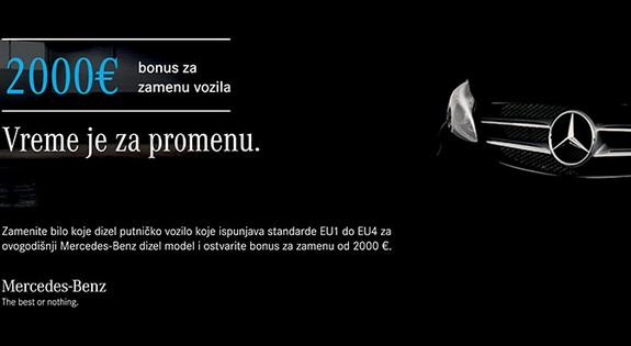 Mercedes-Benz: 2000 € - bonus za zamenu vozila
