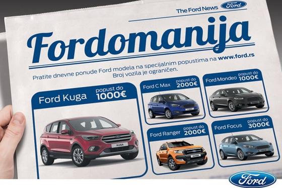 Mesec dana izuzetnih cena za Fordove modele