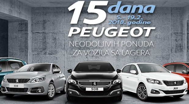 15 dana Peugeot neodoljivih ponuda za vozila sa lagera