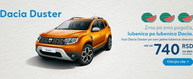 Posebna ponuda za kupovinu Dacia vozila