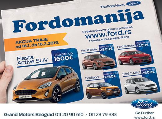 Grand Motors: Fordovi modeli mesec dana po izuzetnim cenama