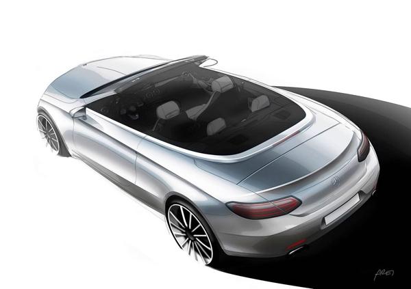 Mercedes-Benz C-Klasa Cabriolet - prva zvanična skica