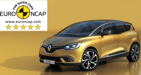Novi Scenic je 20. Renaultov model sa maksimalnih pet Euro NCAP zvezdica za bezbednost