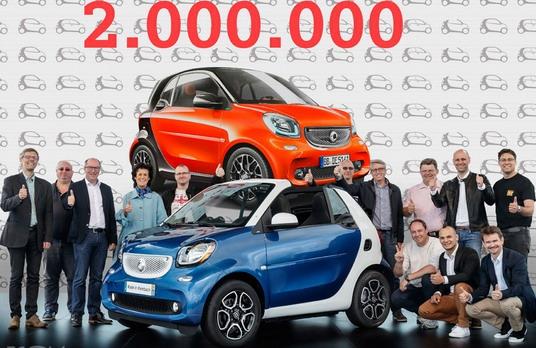 Smart obeležio prodaju 2-milionitog vozila