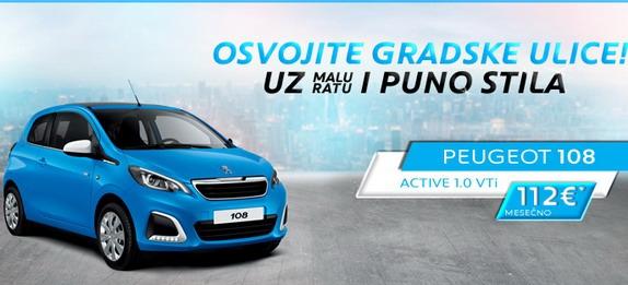 Akcija za Peugeot 108 i 208 (dopunjeno)