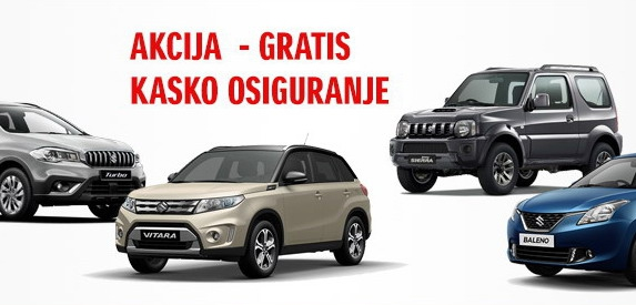 Suzuki predsajamska akcija – Gratis kasko osiguranje za prvu godinu