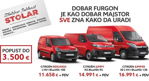 Citroen komercijalna vozila - subvencionisani lizing i popusti do 3.500 evra