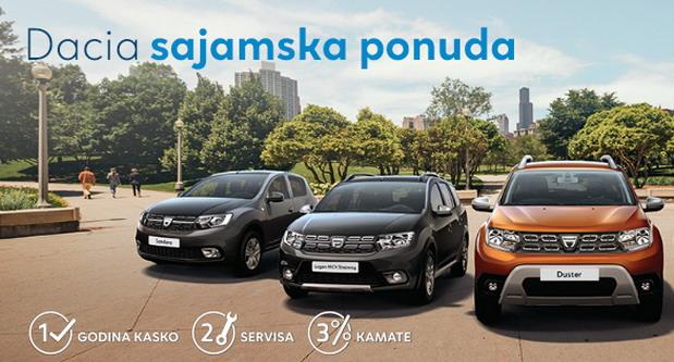 Sajamska ponuda za kupovinu Dacia vozila