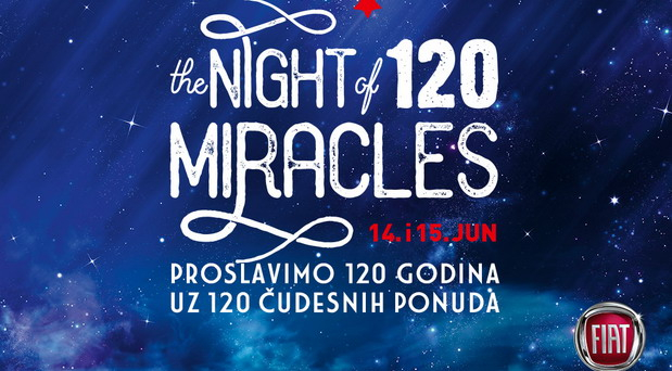The Night of 120 Miracles u Fiat salonima 14. i 15. juna