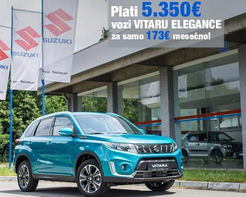 Suzuki Vitara za 173 evra mesečno