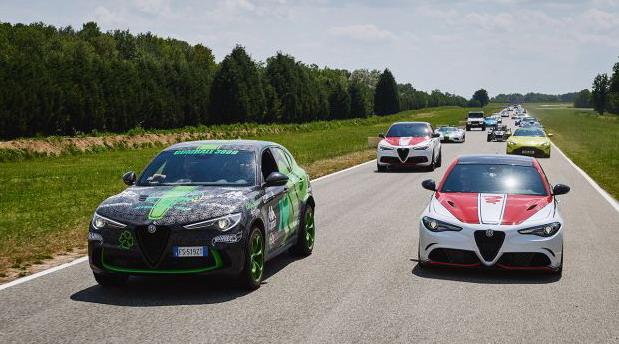 Alfa Romeo je dočekao Gumball 3000 reli na test stazi Balocco