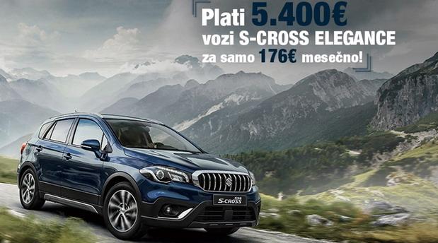 Suzuki S-Cross Elegance za 176 evra mesečno