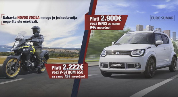 Suzuki Ignis za 94 evra mesečno