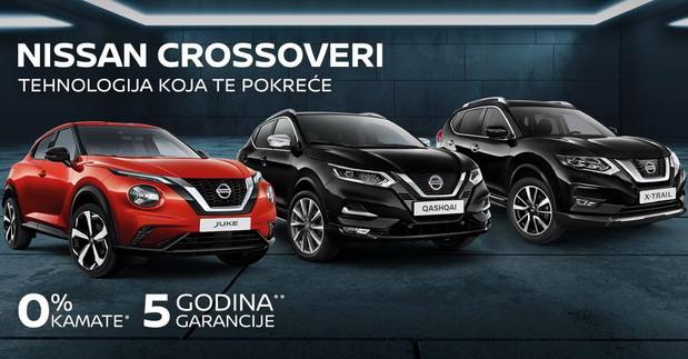 Ponuda za Nissanove crossovere